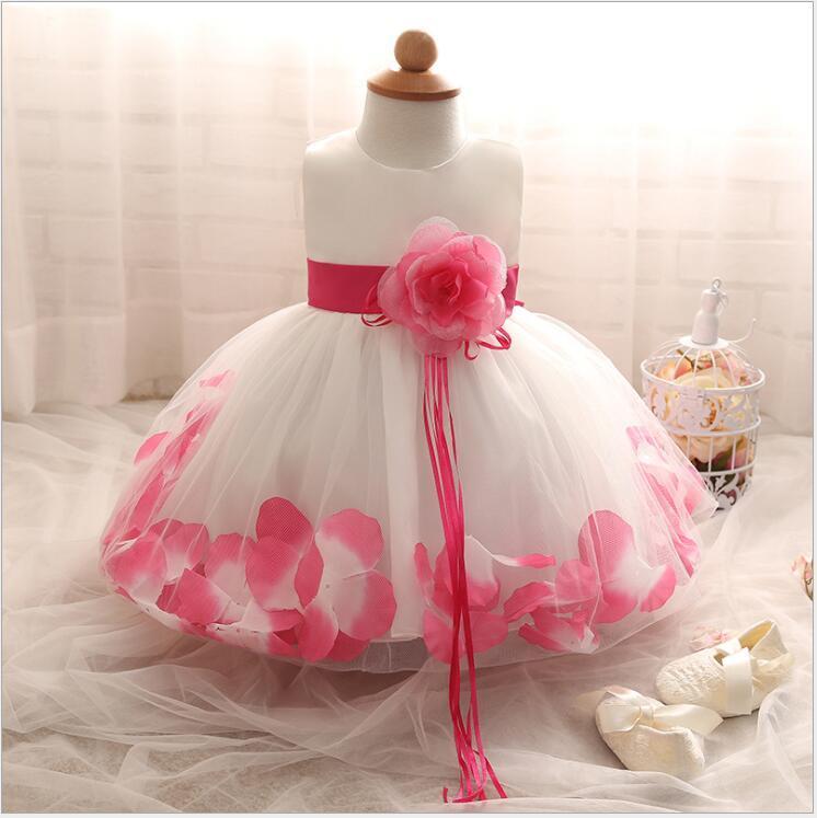 First Communion Dress Tulle Long Flower Girl Dress Strapless Little Kids Party