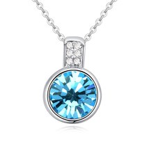 New Fashion Mini Round Pendant Collares Crystals From Swarovski Necklaces For Wo image 5