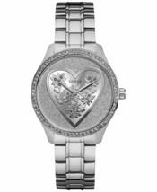 Brand New Guess U0910L1 Silver Stainless Steel Glitz Heart Women's Watch - £63.84 GBP