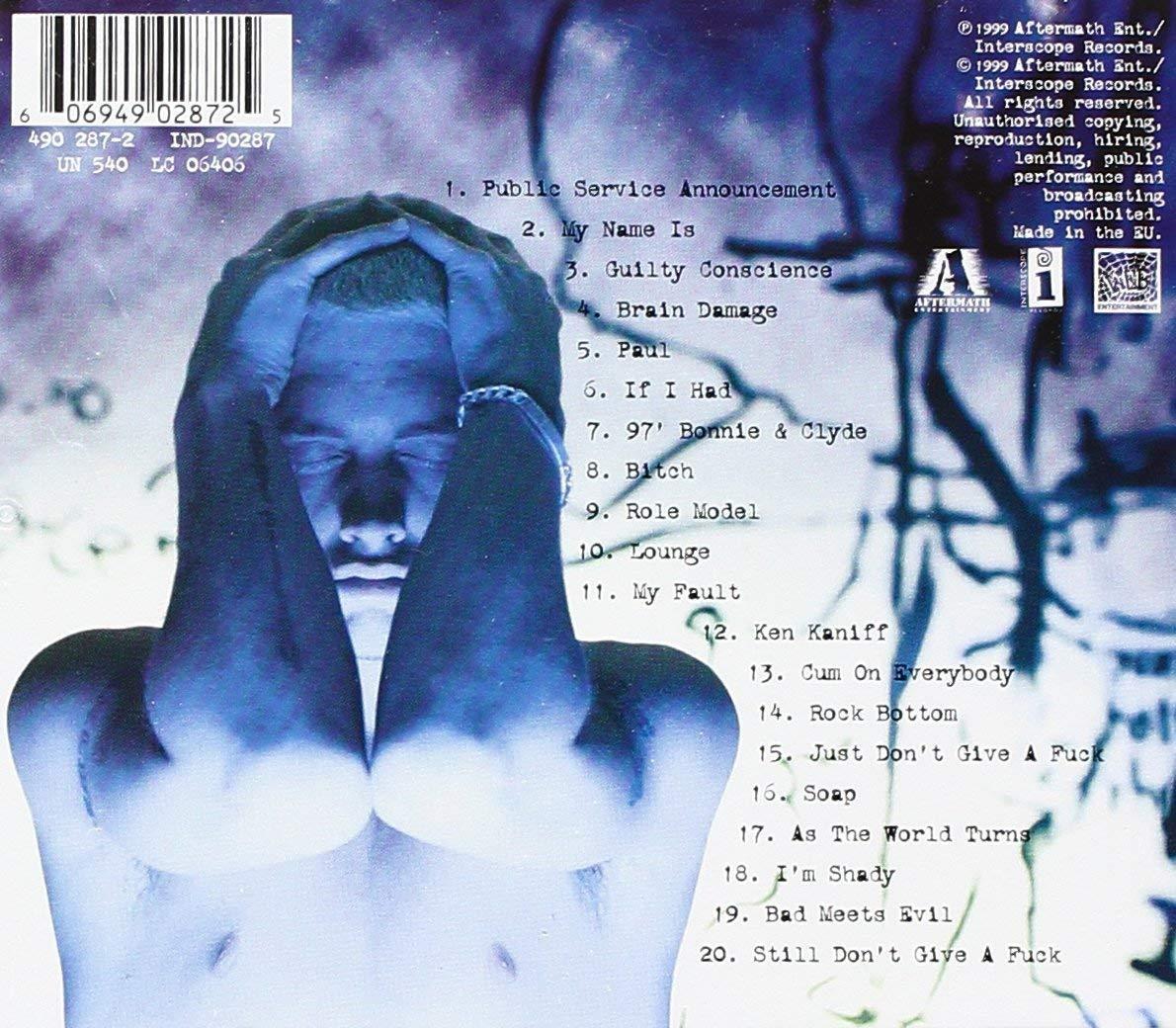 Eminem - The Slim Shady LP (Audio CD, 1999)