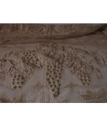 Very Old Linen with Grapes and Bird Design Long Runner Style Material 84... - $10.00