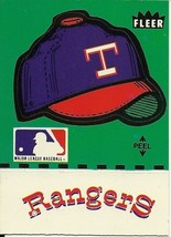 1982 Fleer Logos Caps Rangers - $1.00
