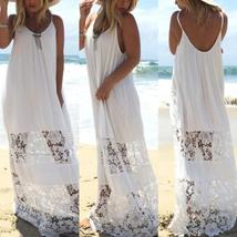 Women Lace Beach Boho Maxi Sundress Sleeveless Long Dress Party Holiday ... - €11,13 EUR