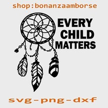Every child matters Feathers svg, orange Shirt Day Svg Png Dxf Digital f... - $1.99