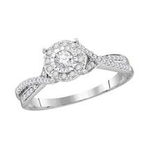 14k White Gold Round Diamond Bridal Wedding Engagement Anniversary Ring 1/3 Cttw - $622.54