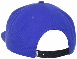 New York Metz Crooks & Castles Men's Royal Orange Woven Snapback Hat NWT image 2