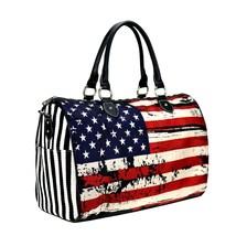 Montana West American Flag Canvas Weekender Bag Duffel  image 1