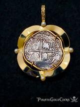 ATOCHA 2 REALES DIAMONDS & PEARLS PIRATE GOLD SHIPWRECK COINS PENDANT NE... - $4,750.00