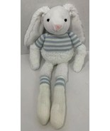 Manhattan Toy Bunny Rabbit Plush long arms legs blue sweater stripes white  - $6.92