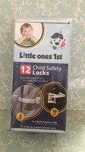 Little Ones 1st - 12 Child Safety Locks - 2 Multi-Purpose Locks 10 Cabinet Locks - $12.86