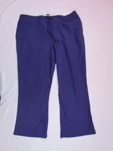 "Women CHEROKEE WORKWEAR Uniforms Scrub PURPLE pants INSEAM 26"" - $9.08"