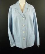 NWT TALBOTS Size 24W Turquoise Seersucker Jacket  New - $33.99