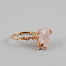 Rose Quartz Rose Gold Ring  - $75.00