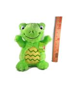 "Easter Green Frog Easter Egg Belly Plush Stuffed Animal NEW Dan Dee Fluffy 10"" - $11.87"