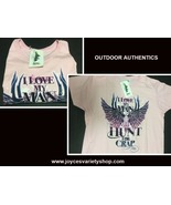 Outdoor Authentics Women's T-Shirt I Love My Man But Sz L NWT - $10.99