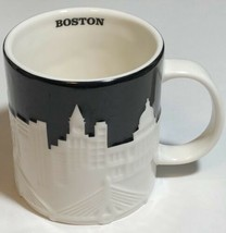 Starbucks Mug 2012 Boston Skyline Relief Collectors Series Black White 1... - $34.60