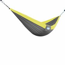 Vivere Double Parachute Hammock - Grey/Yellow  - $73.15