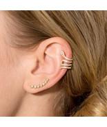 Snake Ear Cuffs with Signity CZs sterling silver snake ear cuff no pierc... - $80.10
