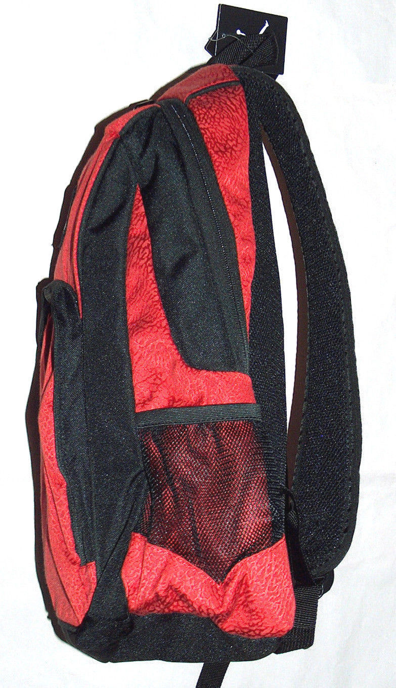 Nike Air Jordan Jumpman Flight Laptop Bottle Red Leopard School Backpack Bag b936b02f9e452
