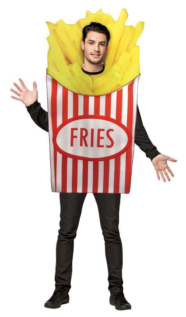 French Fries Adult Costume Tunic Men Women Food Snack Halloween Unique GC7064