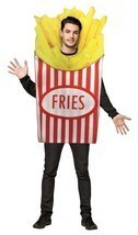 French Fries Adult Costume Tunic Men Women Food Snack Halloween Unique GC7064 - $54.99