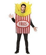 French Fries Adult Costume Tunic Men Women Food Snack Halloween Unique G... - $54.99