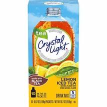 Crystal Light Lemon Iced Tea Drink Mix 60 On-the-Go Packets, 6 Packs of 10