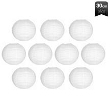"""10 Piece White Chinese Round Paper Lanterns 12""""  - $16.99"""