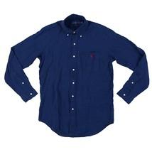 New Polo Ralph Lauren Men's Long Sleeve Linen Button Down Shirt M L XL XXL Navy - $74.95