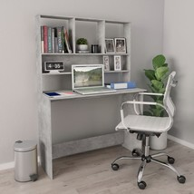 "Desk with Shelves Concrete Gray 43.3""x17.7""x61.8"" Chipboard - $208.00"