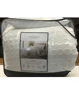 8pc King Mia Clip Jacquard Comforter Set White - Threshold - $40.10