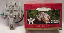 Hallmark Star Trek RUNABOUT U.S.S. RIO GRANDE LIGHT & SOUND CHRISTMAS OR... - $24.74