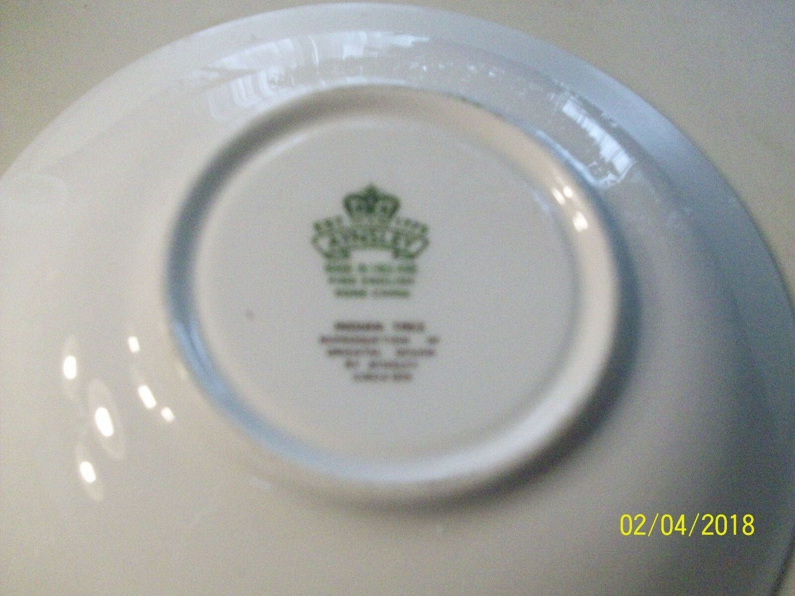 "10#    Aynsley Idn Tree 5 1/2""  Saucer Bone China England Vintage image 3"