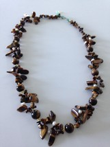 tigers eye beaded necklace - $24.99