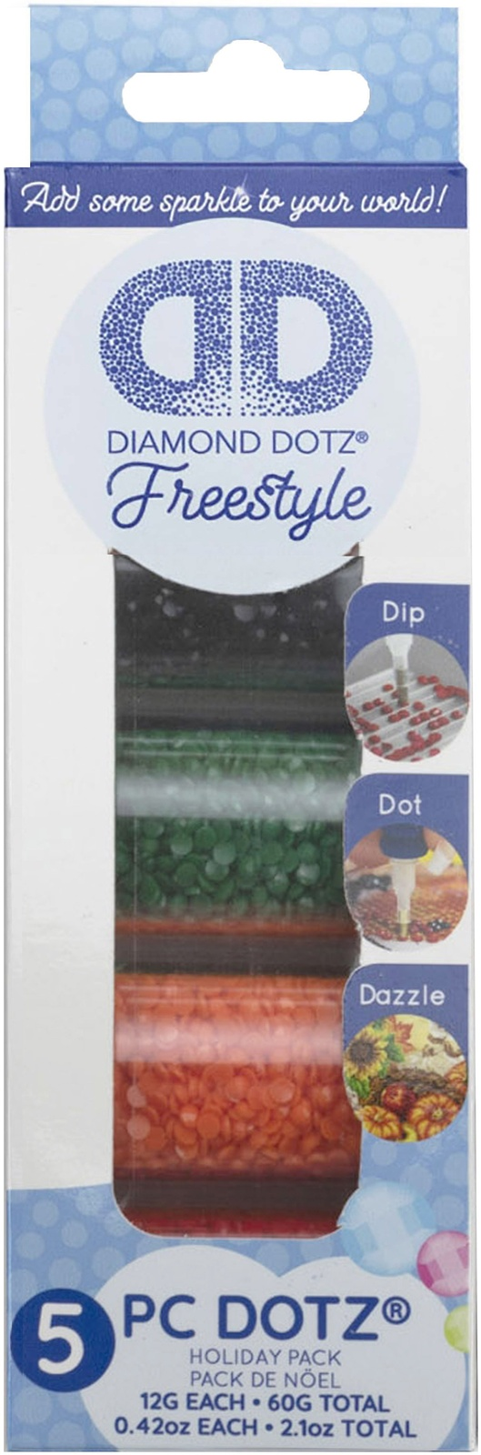 Primary image for Leisure Arts Diamond Dotz Freestyle Sampler Pack 5/Pkg-Holiday