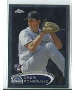 DREW POMERANZ RC 2012 Topps Chrome #155 Colorado Rockies Baseball Sports... - $1.99