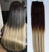"""Hair Faux You 18"""" Ombre Balayage Tape in Hair Extensions Remy Human Hair Glue in - $99.99"""