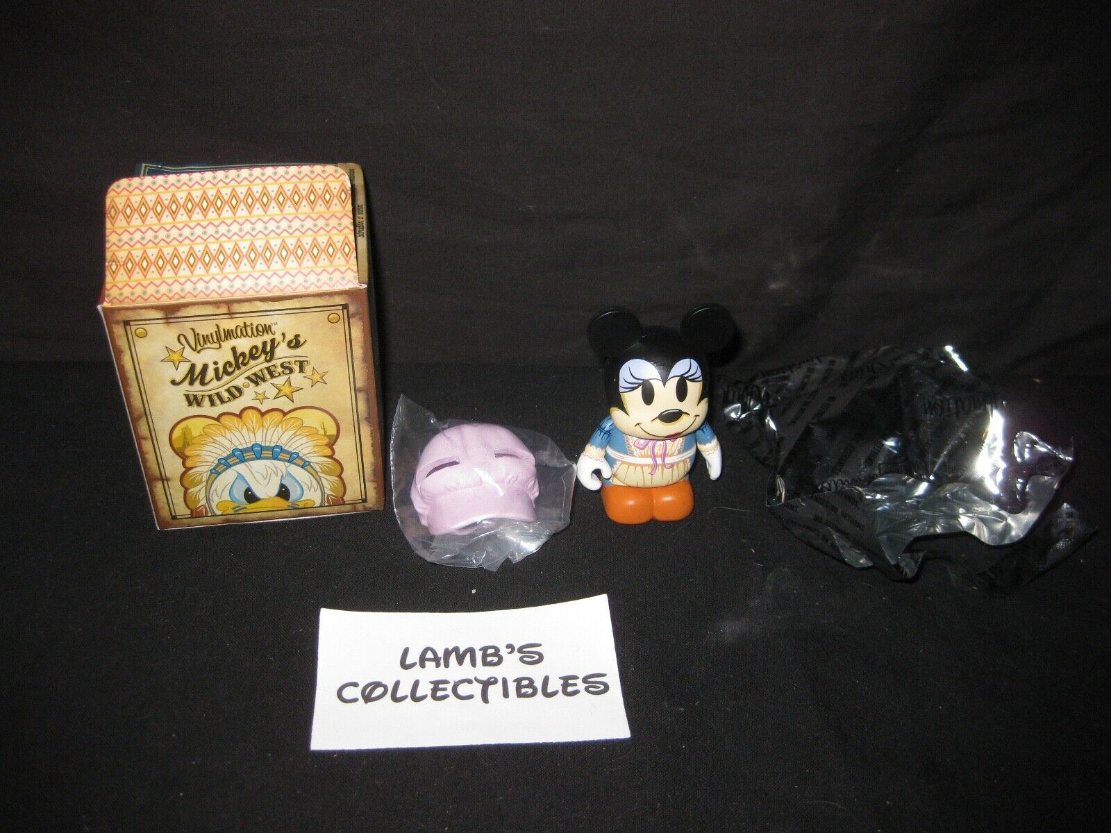 "Primary image for Disney Parks Authentic Minnie 3"" Vinylmation Mickey's Wild West series w/ bonnet"