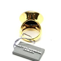 Ring Antica Murrina Venezia with Disc with Murano Glass Black Golden AN204A14 image 3