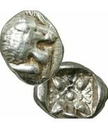 LION Head. Miletos. Ionia 525 BC Diobol Ancient Greek Silver Coin 12th S... - $170.10