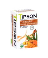 Tipson Ceylon tea - Organic Turmeric Ginger & Cinnamon 25 tea bags 37.5g... - $9.80