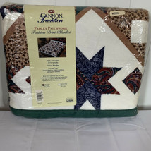Vintage Satin Trim Blanket Full Size 72 x 90 Cannon USA Made Polyester P... - $74.22