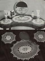 Vtg 1945 Crochet Knit Cross Stitch Favorite Doilies Place Mats Runner Patterns - $13.99