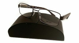 Prada Unisex Brown Metal Glasses with case VPR 53R LAH-1O1 54mm - $185.99