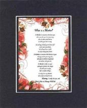 Touching and Heartfelt Poem for Mothers - [What is a Mother? ] on 11 x 1... - $16.33