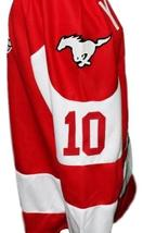 Custom Name # Youngblood Movie Hamilton Mustangs Hockey Jersey New Red Any Size image 5
