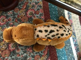 "Ganz Heritage Collection ALLIGATOR Leopard Plush Back Tush Tag 13"" GORGEOUS - $56.40"