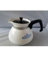 Corning Ware Vintage Teapot Coffee Pot Pitcher 6 Cup P-104 Blue Cornflower - $66.95