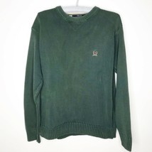 Tommy Hilfiger Men's Sweater Green 100% Cotton XL Extra Large F80 - $16.43