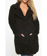 Fashion Nova Keep Each Other Warm Sherpa Coat [JKJR000095] Black [941001... - $42.31